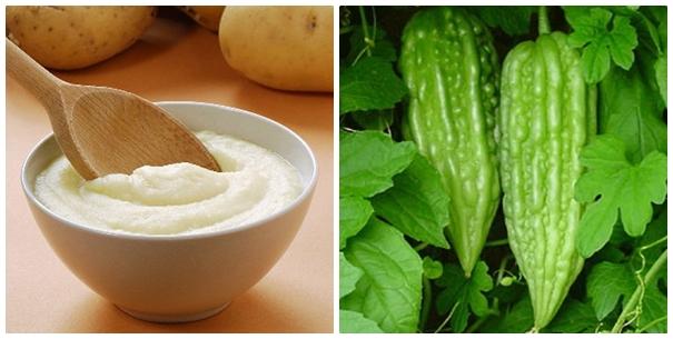 Cách trị mụn thịt bằng khoai tây và mướp đắng được nhiều người áp dụng