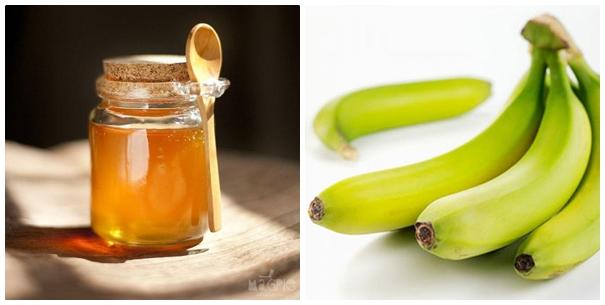 Cách trị mụn thịt bằng hỗn hợp chuối xanh+ mật ong+ chanh tươi hiệu quả