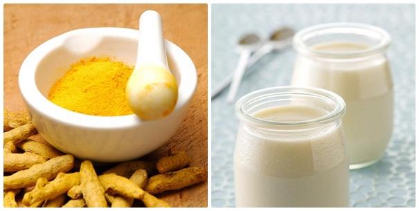 Cách trị mụn đơn giản bằng bột nghệ tươi và sữa chua