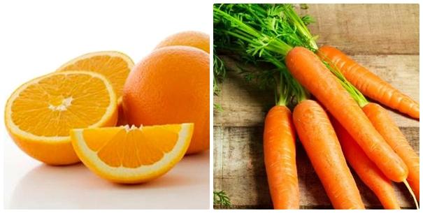Kết hợp cà rốt + nước cam + đường để loại bỏ mụn thịt