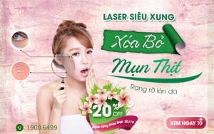 OFF 20% – Trị mụn thịt Laser Siêu Xung: Xóa sạch mụn thịt, rạng rỡ làn da