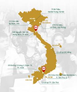 Hệ thống chuỗi cơ sở thẩm mỹ viện Đông Á từ Bắc tới Nam